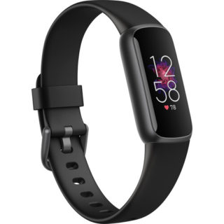 Fitbit Luxe Fitness Tracker | Stainless Steel - Black | GizXea