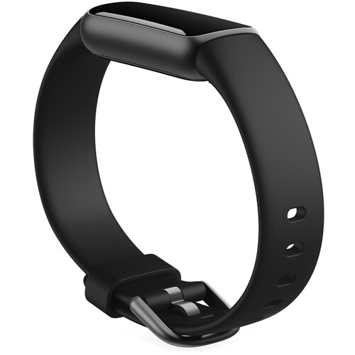 Fitbit Luxe Fitness Tracker   Stainless Steel - Black   GizXea