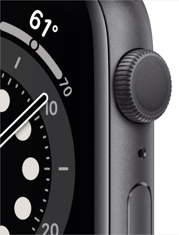 Apple Watch Series 6 (GPS) 44mm | Space Gray with Aluminum Case, Black Sport Band | GizXea